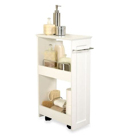 slim bathroom storage slim line organizer storage unit
