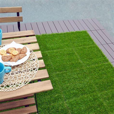 prato sintetico per terrazzo mattonella modulare con erba sintetica greenplate