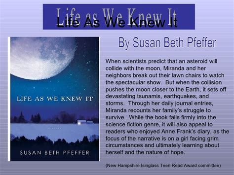 themes of the book life as we knew it book review 1