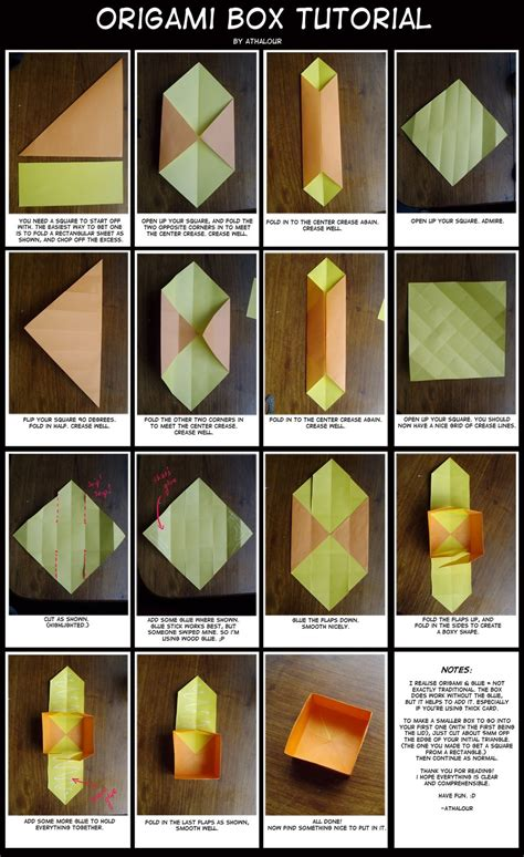 Origami Box Tutorial - origami box tutorial by athalour on deviantart