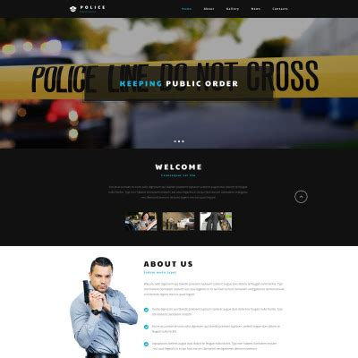 templates for police website security website templates