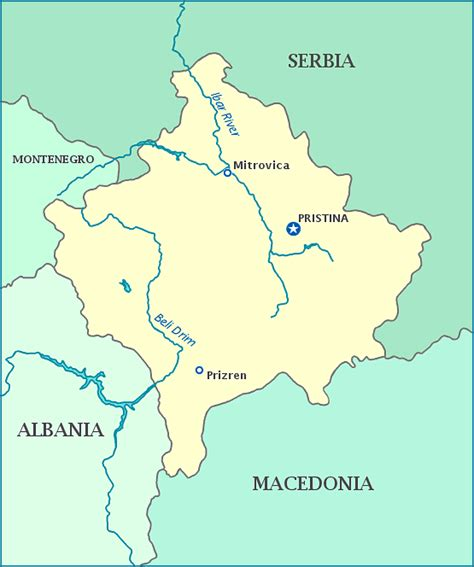 kosovo on a map map of kosovo kosovo maps mapsof net