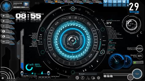 jarvis theme for windows 7 rainmeter s h i e l d os jarvis iron man like theme by eapathy