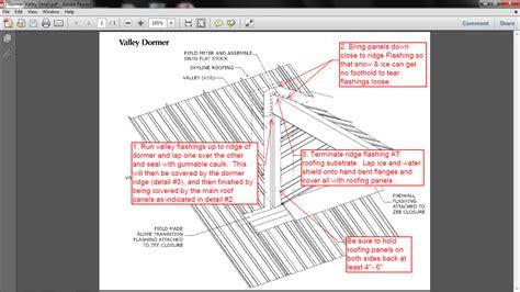 Dormer Roof Detail Standing Seam Valley Dormer Termination Installation