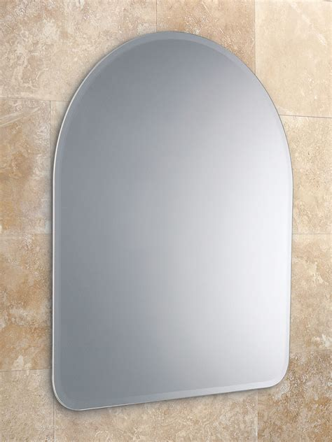 hib tara arched heated bathroom mirror hib tara arched mirror with narrow bevelled edges 61883000