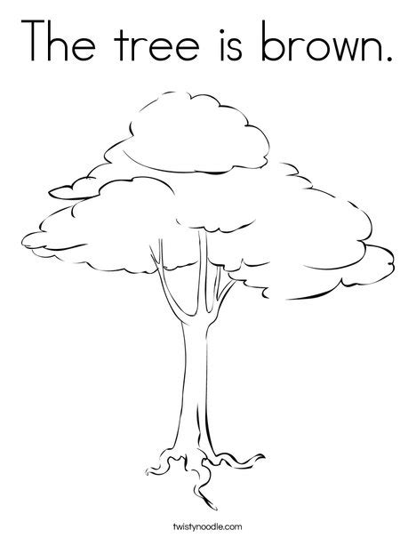 The Tree Is Brown Coloring Page Twisty Noodle Brown Tree Coloring Pages