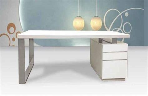 White Modern Desk And Drawers Brubaker Desk Ideas Modern Office Desk White