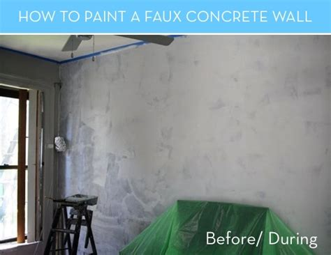 how to faux paint a wall how to paint a faux concrete wall that looks like the real