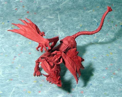 Origami Mythical Creatures - gargoyle op 75 version 4 by andrey ermakov december