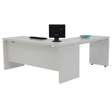 L Shaped Desk White Sedona White L Shaped Desk Made In Italy El Dorado Furniture