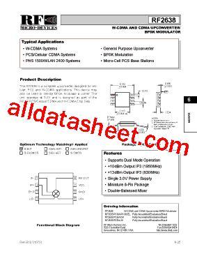 datasheet of rf diode rf2638 datasheet pdf rf micro devices