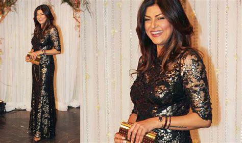 sushmita sen gown miss india bipasha basu karan singh grover reception sonam kapoor