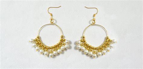 how to make gold beaded jewelry beader garden gold beaded earrings