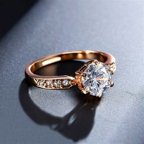 1 75ct aaa zircon engagement rings for gold
