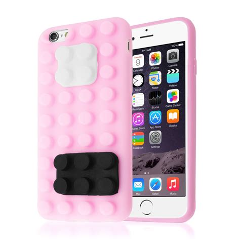 Iphone 6 6s Squishy Si Doel 3d building lego blocks brick soft silicone stand cover for iphone 6 6s ebay
