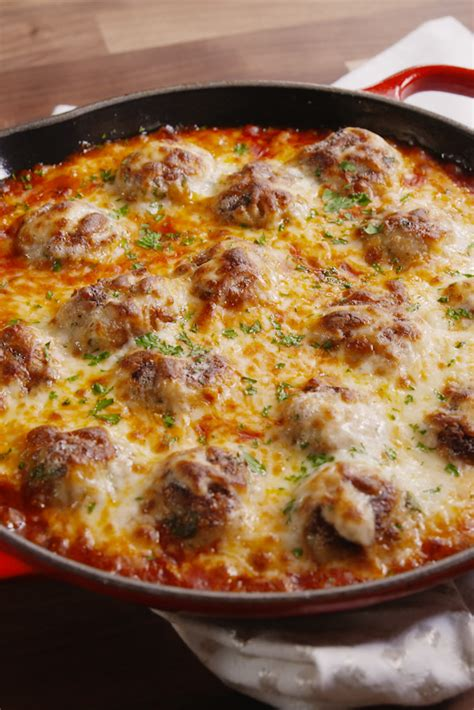 best meatball recipe best chicken parm meatball skillet recipe how to make