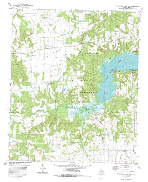 topo map texas pat mayse lake west topographic map tx usgs topo 33095g6