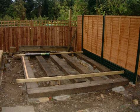 Building With Railway Sleepers by Free Plans For Bird Feeders Building Shed Base Railway
