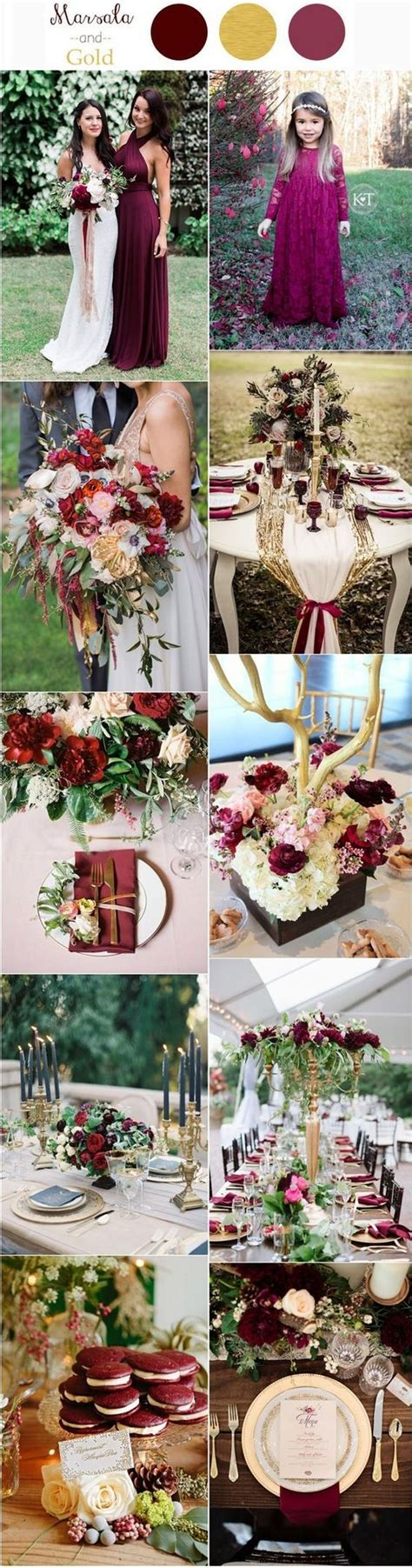 wedding color ideas burgundy and gold fall wedding color ideas www