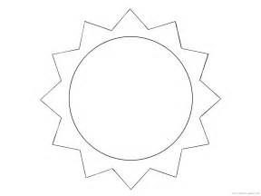 Template Of A Sun by Sun Coloring Pages 4 Coloring