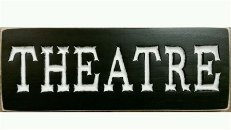 theatre country home theater plaque media