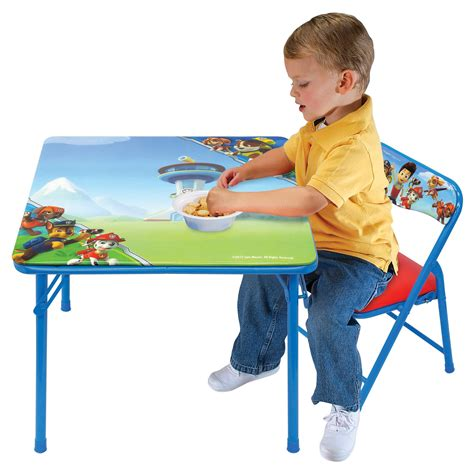 paw patrol table and chair set nickelodeon paw patrol junior table and padded chair set