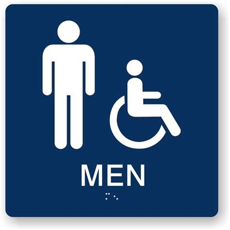 men bathroom sign ada men s bathroom sign male handicap restroom sign