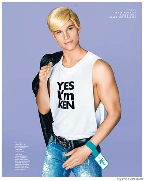 fashion ken doll aaron bruckner is ken doll for gq style germany