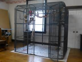 Black bird cage large play top parrot finch cage macaw cockatoo pet