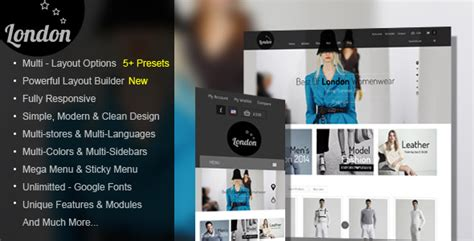 london themes prestashop 21 cool prestashop clothes shopping themes design freebies