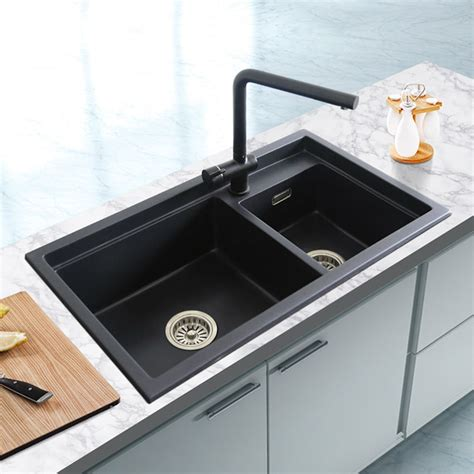 stone kitchen sinks quartz stone kitchen sink granite double bowl sink kitchen