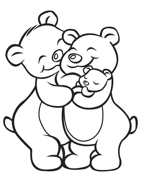 Un Bear Ably Cute Mother S Day Coloring Pages And They Re Family Day Coloring Pages