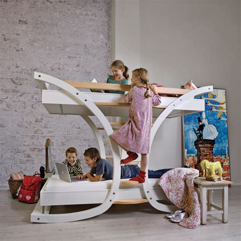 cool bunk beds for teenagers cool single and bunk kids beds wave by mimondo digsdigs