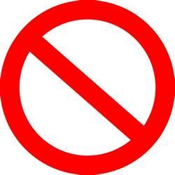 Farbideen Clipart Panneau Interdit Forbidden Road Sign Basic
