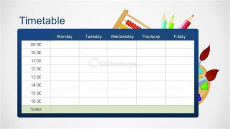 timetable school template school editable timetable powerpoint template slidemodel