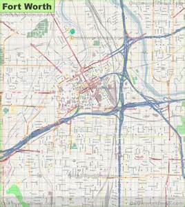 fort worth maps large detailed map of fort worth