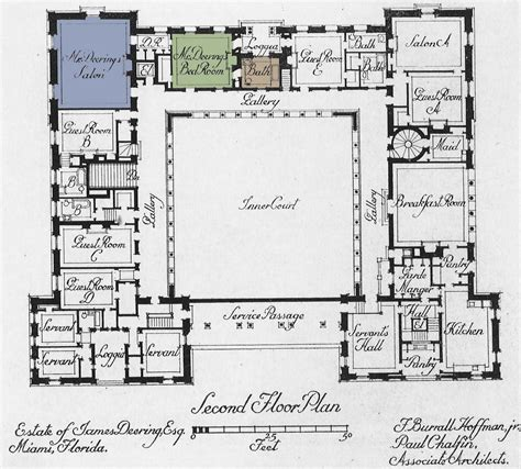 Vizcaya Floor Plan | art now and then villa vizcaya miami florida