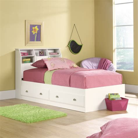 twin storage bed with headboard sauder shoal creek twin mates bed with headboard soft
