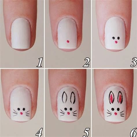 tutorial nail art step by step simple 10 easy step by step easter nail art tutorials for