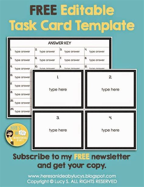 254 Best Images About Classroom Organization On Pinterest Task Card Template