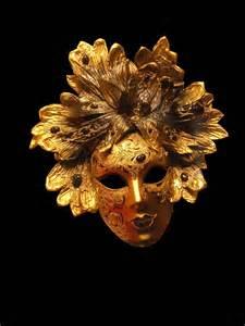 Mirror Mosaic Vase Mask Venice Gold Leaves Mask