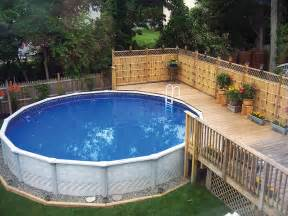 Backyard Ideas With Above Ground Pool Backyard Above Ground Pools Marceladick