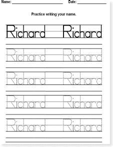 writing name template free name tracing worksheet printable font choices