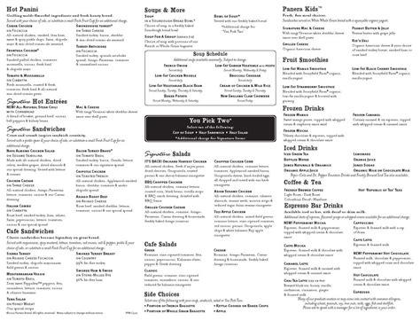 lazy menu prices panera pdf menu printable 2017 mega deals and coupons