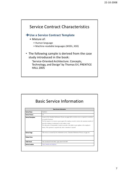 soa service contract template arnaud simon service contract template