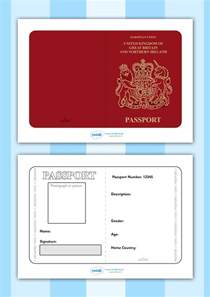 passport template twinkl resources gt gt passport template gt gt printable