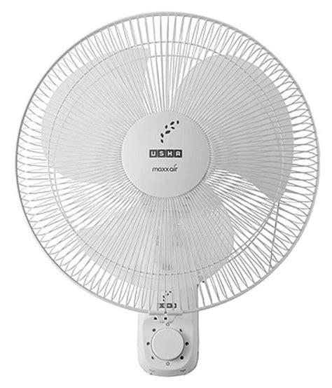 maxx air pedestal fan usha 400 mm maxx air wall fan white available at snapdeal