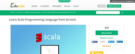 learning scala programming object oriented programming meets functional reactive to create scalable and concurrent programs books 10 best technologies to learn at eduonix in 2016