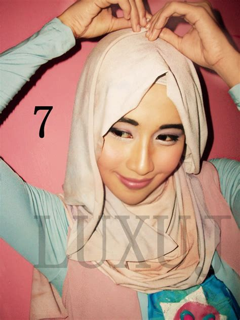 tutorial jilbab fitri kivitz hijab segi empat simple kreasi belle triangle by riksa