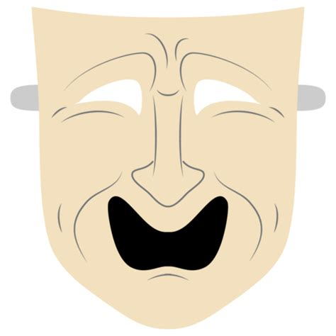 Tragedy Mask Template Free Printable Papercraft Templates No Mask Template